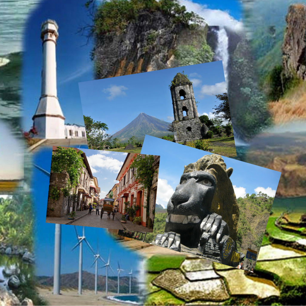 Tourist Spot In The Philippines Collage